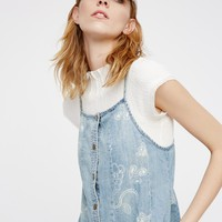 Free People Chambray Jumper