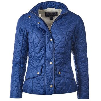 Flyweight Cavalry Quilted Jacket in Indigo by Barbour