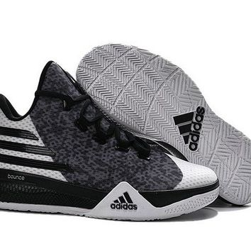 Fashion Adidas Light EM UP 2 Bounce Lillard Dark Grey Black White Brand sneaker