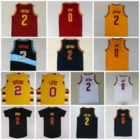 High Quality 2 Kyrie Irving Jersey Rev 30 New Material 0 Kevin Love Basketball Jerseys Uniform Trowback Sports Shirts Red White Yellow Black