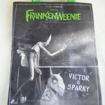Frankenweenie Small Lunch Tote Bag Business Supply Shopping Bags Carry All Tim Burton Subway Collectible Halloween