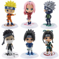 6Pcs/set Anime Naruto Model Toys