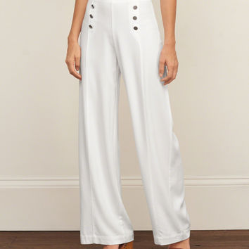 Wide Leg Sailor Pants