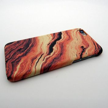 Orange Marble Stone iPhone 7 7 Plus & iPhone 5s se & iPhone 6 6s Plus Case Personal Tailor Cover + Gift Box-170928