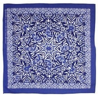 Sunshine Joy Grateful Dead Dancing Bear Mandala Bandana Blue