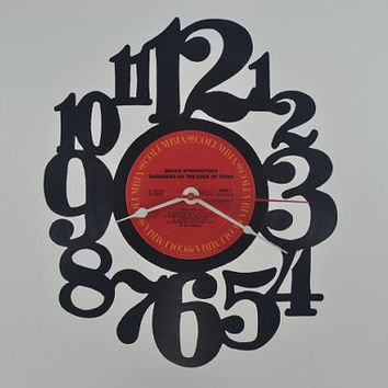 Vinyl Record Wall Clock (artist is Bruce Springsteen)