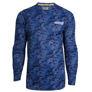 Men's Dot Camo L/S UV Fishing Shirt