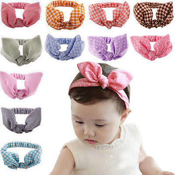 1 X Kids Girls Baby Hair Accessories with Bunny Ear Head Band for Costume  HU