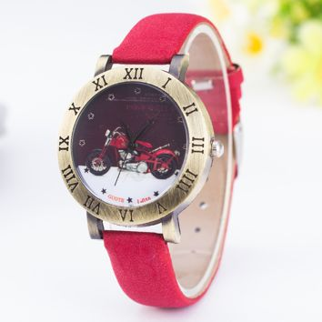 Vintage Motorcycle Watch with Gift Box