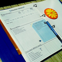 VACATION PLANNER and Packing List Printable PDF. Blue Breeze.