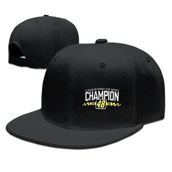 Jimmie Johnson New Era Royal 2016 Sprint Cup Champion Funny Unisex Adult Womens Hip-hop Hat Mens Fitted Hats