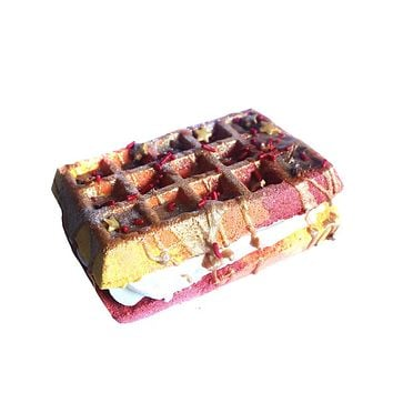 Triple Threat Waffle Sandwich Bath Bomb+ Bubble Bar