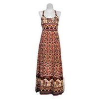 Indian Print Criss-Cross Dress on Sale for $34.95 at The Hippie Shop