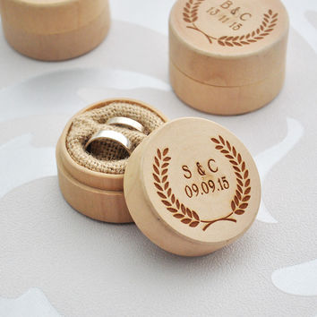 Personalized Wedding Ring Box Wedding Ring Bearer