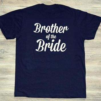 Hipster Casual Grunge Tee Brother of the Bride T-Shirt Tumblr Fashion Aesthetic Girl Tops Bride Letter Funny Popular Top t shirt