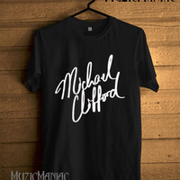 Michael Clifford Shirt, 5SOS Shirt, 5 Second Of Summer Shirt, 5Sos Tshirt, 5Sos T Shirt, 5Sos Tee, Shirt Black And White Unisex Size - NK17