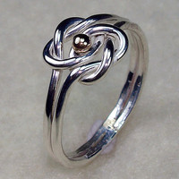 Celtic Double Love Knot Ring with All Argentium by AviationJewelry