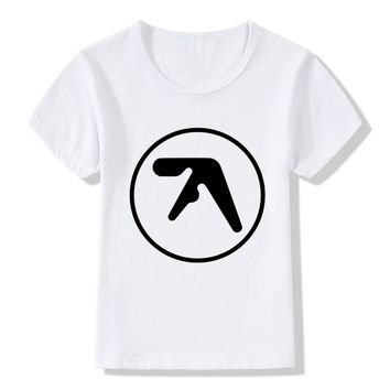 Aphex Twin Print Funny Children T shirt Summer Boys/Girls Tops Short Sleeve Clothes Casual Hipster Baby Kids T shits,HKP934