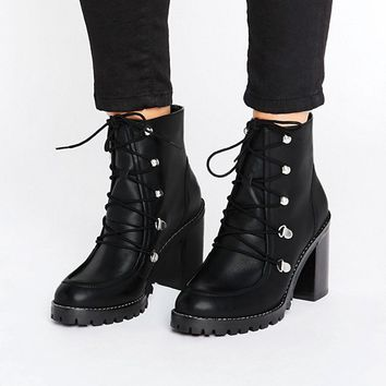 ASOS EISHA Leather Hiker Boots at asos.com