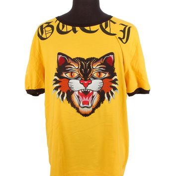 Gucci Tiger Embroidered Top