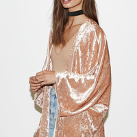 Kendall and Kylie Crushed Velvet Kimono at PacSun.com