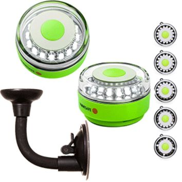 Navisafe Portable Navilight 360° 2NM Rescue - Glow In The Dark - Green w-Bendable Suction Cup Mount