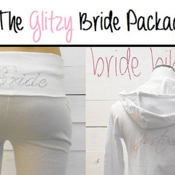 Bride Hoodie and Bride Yoga Pants Package. Bride Yoga Pants. Bride Hoodie. Bride Sweatsuit. Bride Pants. Honeymoon.