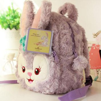 Duffy Bear New Friends Stellalou Rabbit Plush Backpack Soft Toys Children Schoolbag Stuffed Doll Plush Animal Bag Girls Gifts