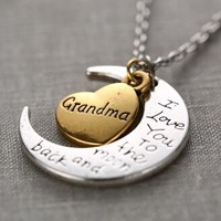 To The Moon & Back Necklace - Grandma