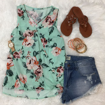 There for You Top: Mint