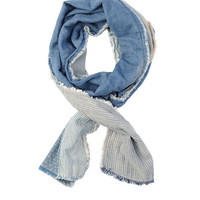 Rag & Bone - Railroad Scarf -, Blue Size ONE