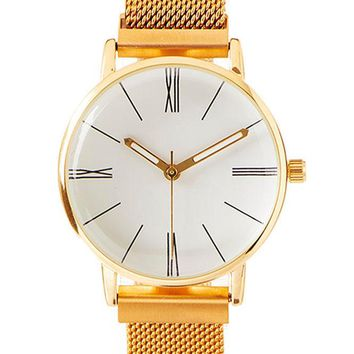 Turn Back Time Watch - Gold