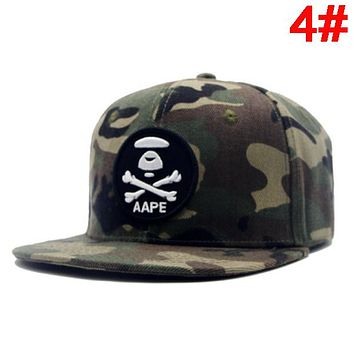 Bape Aape New fashion embroidery letter couple hat cap