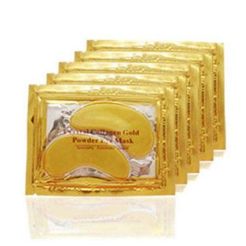 ac DCCKO2Q 20pcs=10packs 2017 Gold Crystal Collagen Eye Mask Hotsale Eye Patches For The Eye Anti-Wrinkle Remove Black Eye Face Care