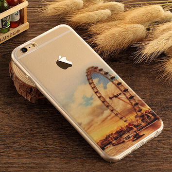 Europa Wheel Case TPU Cover for iphone 7 7 Plus & iphone 6 6s Plus & iphone se 5s + Gift Box