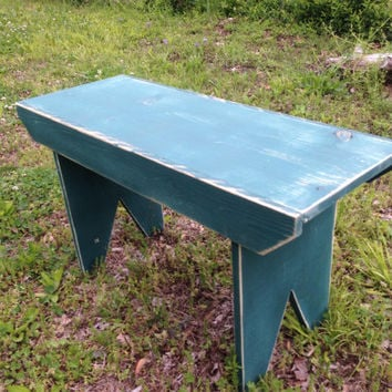 Garden Bench, Rustic Wooden Bench, Primitive Style Distressed Bench