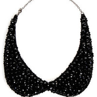 Dazzling Days Black Collar Necklace