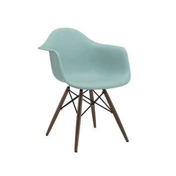 Trige Surfin Arm Chair with Walnut Wood Base (Set of 2)