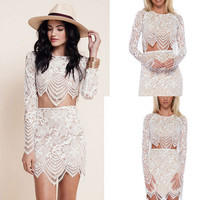 Fashion Two-Piece Lace Dress