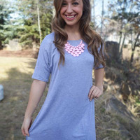 T-Shirt Tunic - Heather Grey