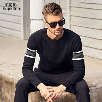 winter o neck knitted pullover Sweaters man fashion Black grey Clothing casual Sweater