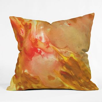 Rosie Brown On Fire Throw Pillow