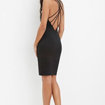 Strappy-Back Bodycon Dress