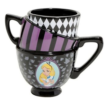 Disney Alice In Wonderland 3D Teacup Stack Ceramic Mug