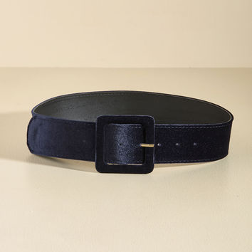 Haute Habits Velvet Belt in Midnight | Mod Retro Vintage Belts | ModCloth.com
