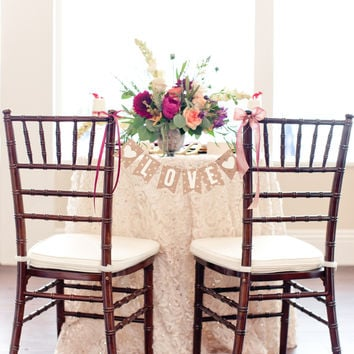 Sheer Sequin Tablecloth | Romantic Wedding Sweetheart Table Decor