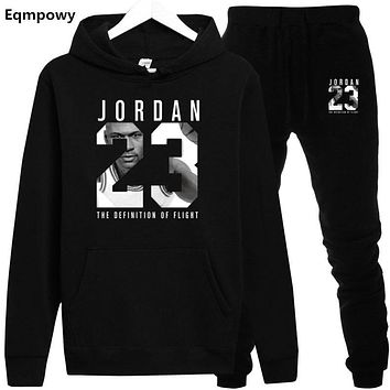 2019 Spring Autumn Men Tracksuits Outwear Hoodies JORDAN 23 Sportwear Sets Male Sweatshirts Men Set Clothing+Pants plus size