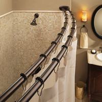 Moen Old World Bronze Double Curved Shower Rod