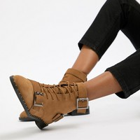 ASOS DESIGN Arabelle Suede Lace Up Boots at asos.com