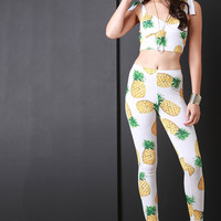 Pineapple Crop and Legging Set